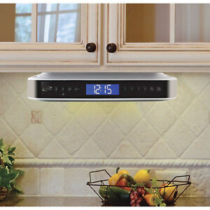 Kitchen Under Counter Cabinet Bluetooth Stereo Radio Cd Player Music Lcd Display