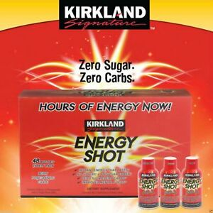 Kirkland Signature Energy Shot 48 Count x 2 ounces each = 96 oz - NE
