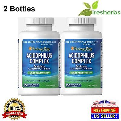 ACIDOPHILUS COMPLEX 1 BILLION UNITS PROBIOTIC LACTOBACILLUS SUPPLEMENT 200 CAPS