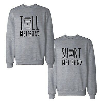 Tall And Short Best Friends BFF Sweatshirts Matching Sweat (Tall And Short Best Friends)