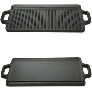 Cast Iron Reversible Grill Griddle 17