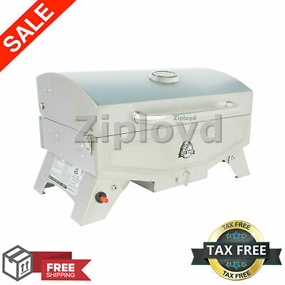 Portable Propane Gas Grill Stainless Steel Barbecue Outdoor