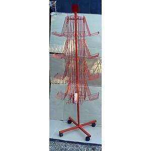 Red Spinning Display Floor Stand on wheels Revolving Mobile Spin Bunya Brisbane North West Preview