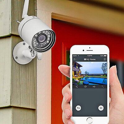 Home Wireless Security Video Camera System Surveillance Night Vision 720 Hd App