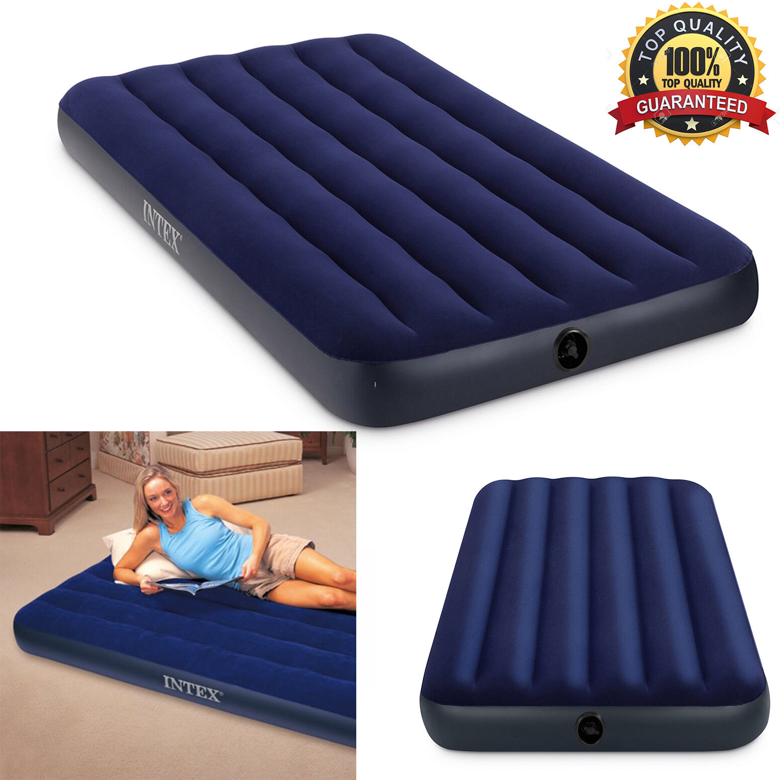 Camping Air Mattress Twin Size Sleeping Inflatable Airbed In