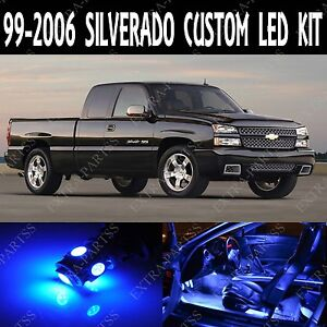 16 X Ultra Blue Led Lights Interior Package Kit For 1999 2006 Chevy Silverado