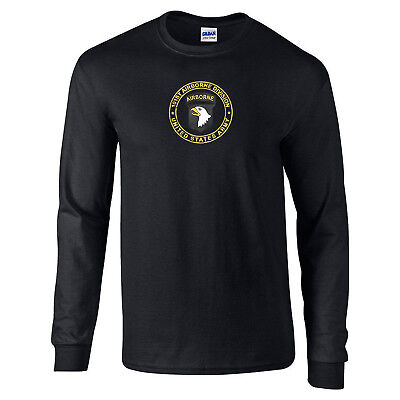 101st Airborne Division US Army Military Long Sleeve T-Shirt