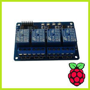 4 Kanal Relay Modul Relais Karte 5V Optokoppler 4-Channel Arduino Raspberry Pi