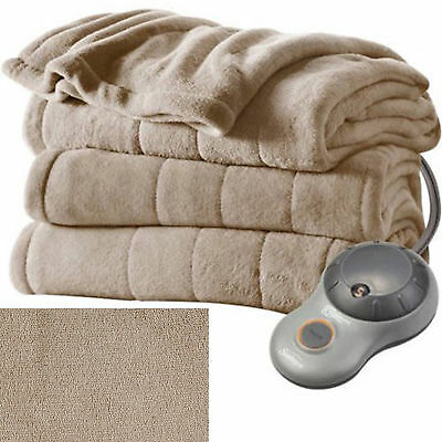 Full Size Electric Heated Fleece Blanket Cozy Warm Extra-soft 5 Heat Settings