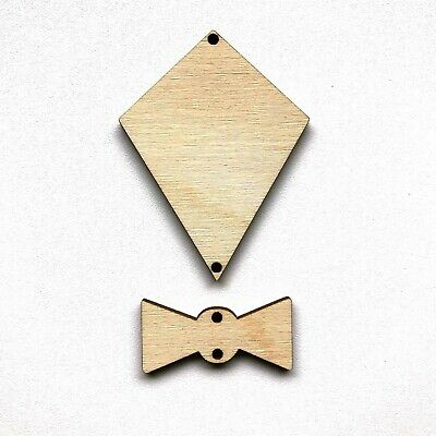 Wooden Birch Ply Kite Craft Shape 3mm Thick Blanks Personalised