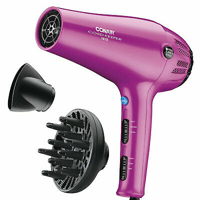 Ionic hair Dryer Conair Professional Turbo Blow 2 Bilis na may diffuser 1875W Pink