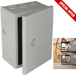 Outdoor junction box ebay metal box hinged electrical nema enclosure steel outdoor junction knockout cover solutioingenieria Gallery