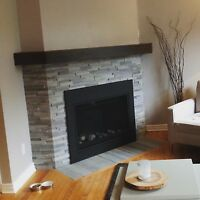 Custom Fireplace Mantles and Floating Shelves