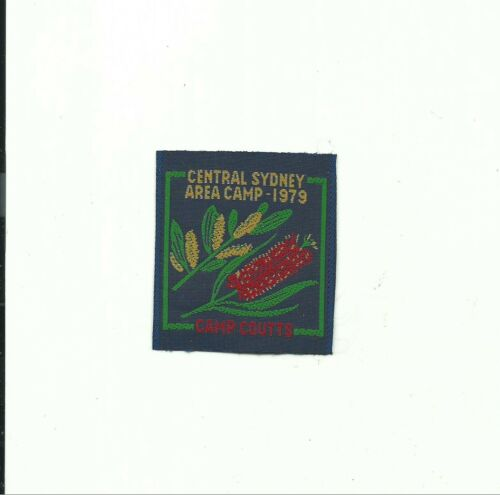 BE SCOUT AUSTRALIA 1979 WOVEN PATCH CENTRAL SYDNEY AREA CAMPS CAMP COUTTS BADGE