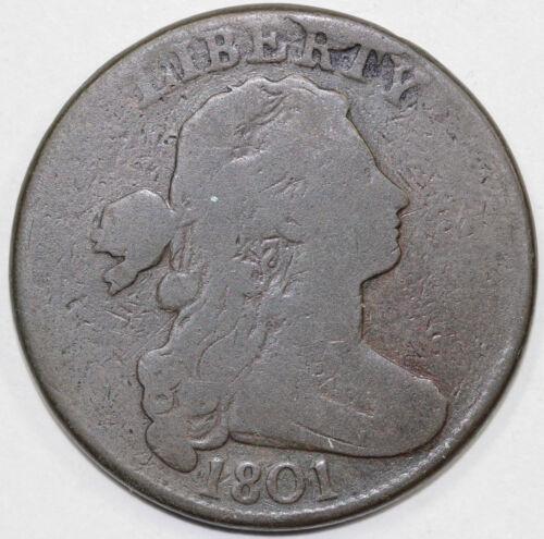 1801 1c 1/000 S-223 Draped Bust Large Cent