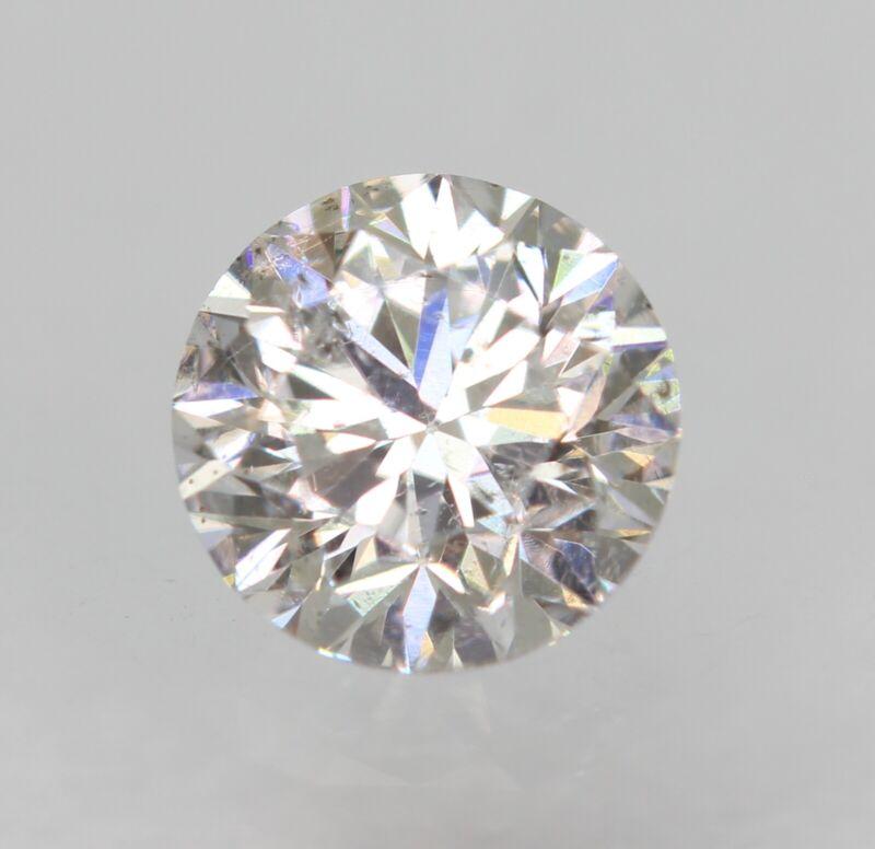 Certified 0.31 Carat F VS2 Round Brilliant Enhanced Natural Loose Diamond 4.23mm