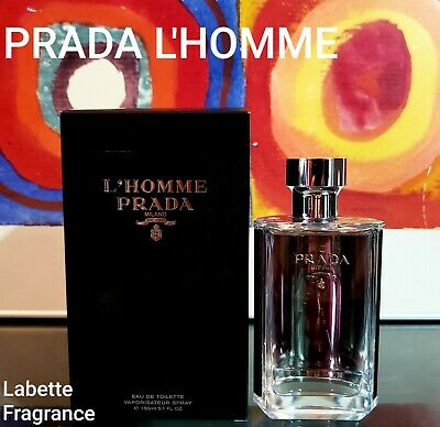 PRADA L'HOMME EDT 1, 2, 3, 5, 7 & 10ML SPRAY 100% AUTHENTIC