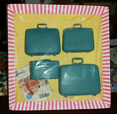 Vintage Barbie 1960's Samsonite LUGGAGE SET Teal Blue for London Tour 1661