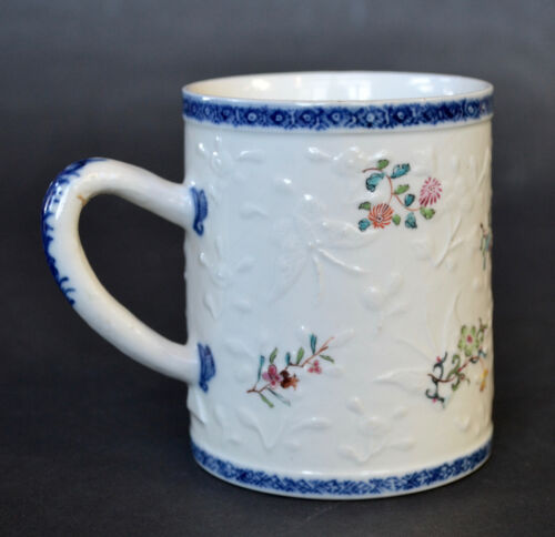 Chinese Export Porcelain Molded Mug