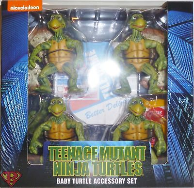 NECA Teenage Mutant Ninja Turtles (1990 Movie) - 1/4 Scale Action Figures - Baby - Baby Tmnt