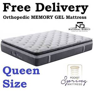 Brand New ORTHOPEDIC Memory Gel QUEEN Mattress DELIVERED FREE Oxley Brisbane South West Preview