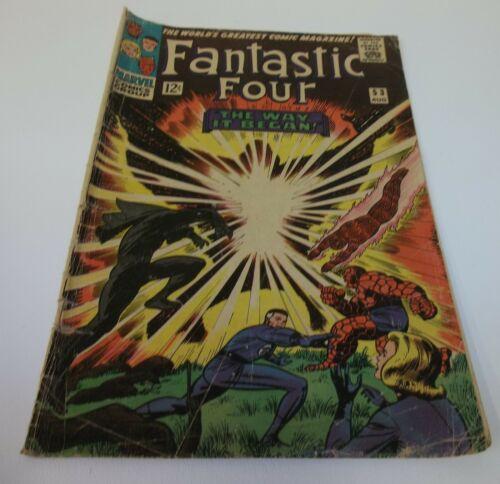 Fantastic Four The Way it Began 53 Aug 1966 Comic Book