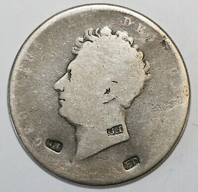 1820's British Guiana Counter-marked Silver George IV Halfcrown