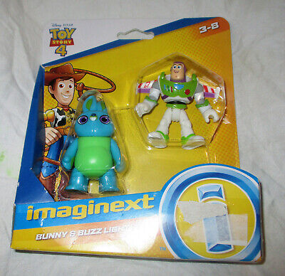 Fisher Price Toy Story 4 Bunny and Buzz Lightyear Figures NEW IN BOX!