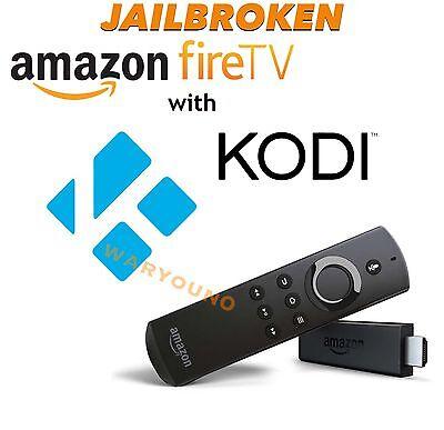 Jailbr0ken Fire Tv Stick w/ Alexa Voice Remote - 2nd Gen Quad Core TVADDONS 17.3