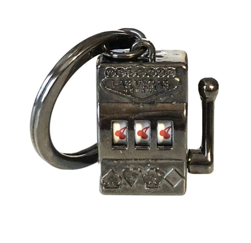 LAS VEGAS Casino Slot Machine Articulated Keychain Gift Souvenir