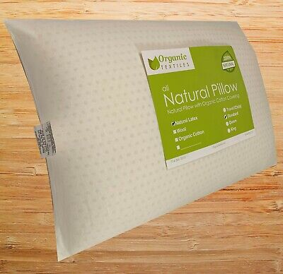 Organic Pillow Cover (Natural Talalay Latex Pillow with Organic Cotton Cover - Standard )