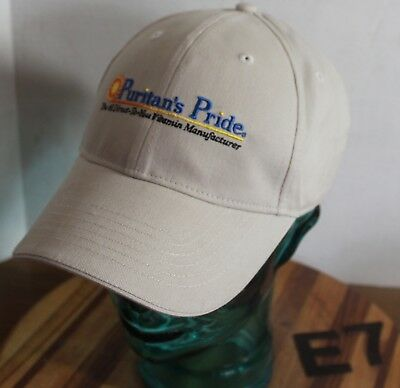 PURITAN'S PRIDE VITAMINS HAT TAN EMBROIDERED STRAPBACK ADJUSTABLE VGC E7](Puritan Hats)