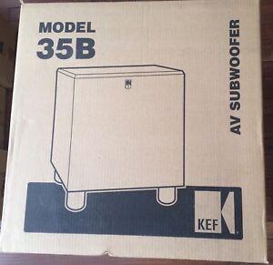 KEF 35B Powered Active 12 inch 150 watt Subwoofer Brand New