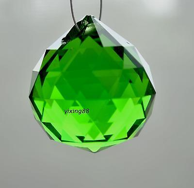 green crystal fengshui ball 30MM pendant  chandelier lamp linht prism ornament on Rummage