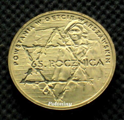 COIN OF POLAND - WARSAW GHETTO UPRISING WORLD WAR II HOLOCAUST (MINT)
