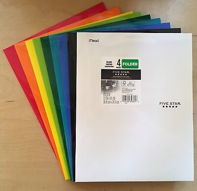 Mead Five Star 4 Pocket Paper Folder 33106 - Choose Color - Flat Rate Shipping