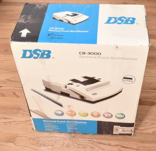 DSB CB-3000 Electric Comb Binding Machine 💎