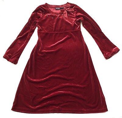 The Children's Place Dress Girls 8 Velvet Red Embellished Bow Valentines Day ](Kid Valentines)