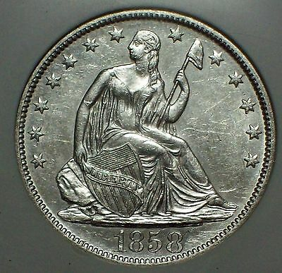 Click now to see the BUY IT NOW Price! 1858 O SILVER HALF DOLLAR NGC SHIPWRECK SS REPUBLIC DOUBLED 1  WOOD CASE DVD COA