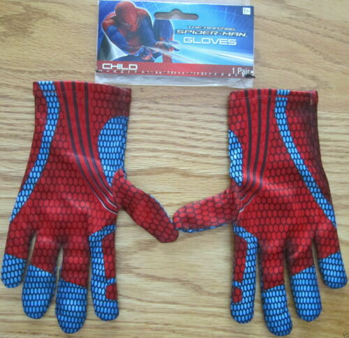 Amazing Spider-Man Peter Parker Costume Gloves Marvel Comics Brand New d