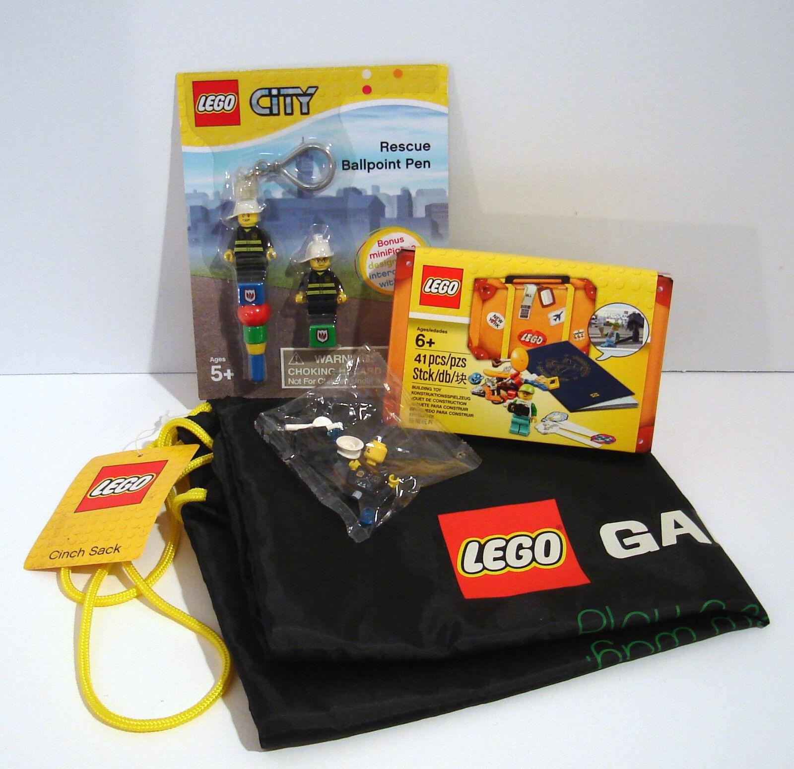 Lego Gift Pack Lot Rescue Pen Passport Set Cinch Sack Minifi