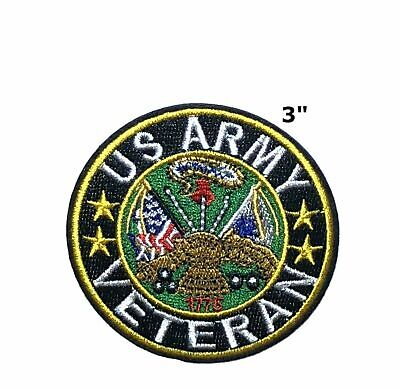 US Army Veteran Embroidered Patch Iron or Sew-on Motif Tactical Morale Applique