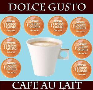 nescafe dolce gusto cafe au lait 6 48 capsules cheapest on ebay ebay. Black Bedroom Furniture Sets. Home Design Ideas