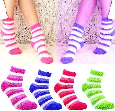 12 Paar Kuschelsocken Bettsocken Wintersocken Flauschige Füsslinge Damen Socken