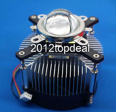 100w High Power Led Cooling Fan Aluminium Heatsink44mm Lens