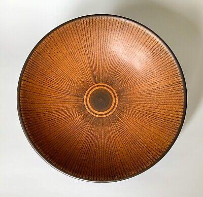 Wilhelm Kagel Mid Century Modern Glazed Pottery Lg Bowl Hand Painted