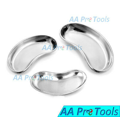 3 Pcs Kidney Tray Set 6810 Smallmediumlarge Stainless Steel Instruments