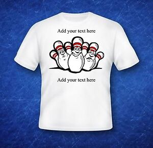 Custom t shirt bowling team add your own text to this for Custom t shirts add photo