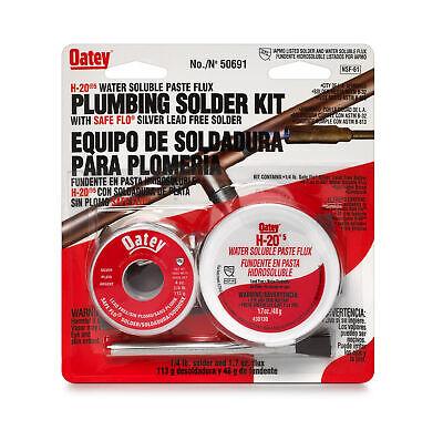 Oatey 50691 Safe-flo H-20-5 Plumbing Flux Solder Kit 8 Oz