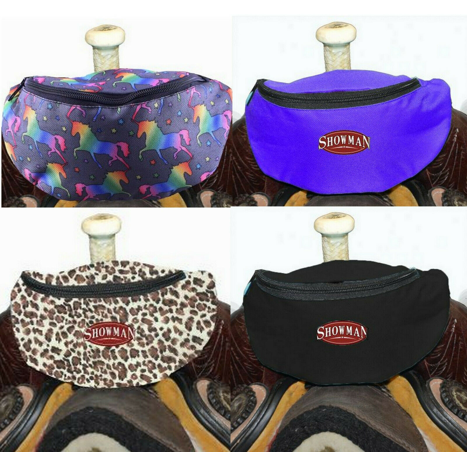 Western Horse Saddle Sack Lined Pouch / Bag Attaches to the